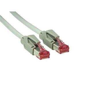 0.50m Good Connections Cat. 6 Patchkabel S/FTP PiMF RJ45 Stecker auf RJ45 Stecker Grau halogenfrei