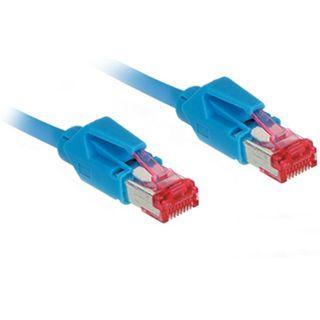 50.00m Good Connections Cat. 7 Rohkabel Patchkabel S/FTP PiMF RJ45 Stecker auf RJ45 Stecker Blau halogenfrei