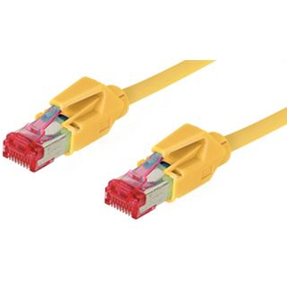 50.00m Good Connections Cat. 6 Patchkabel S/FTP PiMF RJ45 Stecker auf RJ45 Stecker Gelb halogenfrei