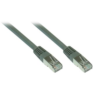 1.00m Good Connections Cat. 7 Rohkabel Patchkabel S/FTP PiMF 600MHz RJ45 Stecker auf RJ45 Stecker Grau