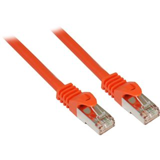 0.25m Good Connections Cat. 7 Rohkabel Patchkabel S/FTP PiMF 600MHz RJ45 Stecker auf RJ45 Stecker Orange