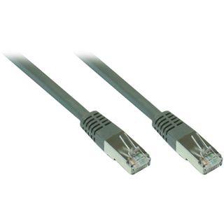 (€1,29*/1m) 10.00m Good Connections Cat. 7 Rohkabel Patchkabel S/FTP PiMF 600MHz RJ45 Stecker auf RJ45 Stecker Grau