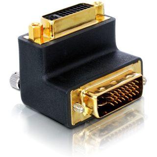 Good Connections Adapter gewinkelt DVI 24+5 Stecker auf DVI 24+5 Buchse Schwarz
