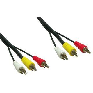 1.50m Good Connections Audio/Video Anschlusskabel 3xCinch Stecker auf 3xCinch Stecker Schwarz