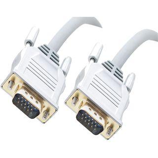 20m S-VGA High Quality Anschlusskabel grau/silber 15pol Stecker auf 15pol Stecker