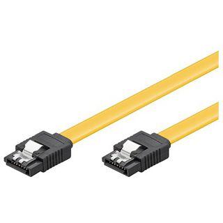 (€3,90*/1m) 1.00m Good Connections SATA 6Gb/s Anschlusskabel SATA Stecker auf SATA Stecker Gelb mit Arretierung