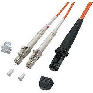 1.00m Good Connections LWL Duplex Anschlusskabel 62,5/125 µm OM1 LC Stecker auf MT Stecker Orange