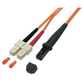 1.00m Good Connections LWL Duplex Anschlusskabel 62,5/125 µm OM1 MT Stecker auf SC Stecker Orange