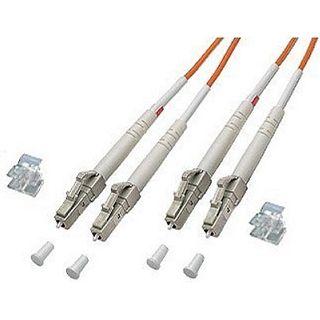 3.00m Good Connections LWL Duplex Anschlusskabel 62,5/125 µm OM2 LC Stecker auf LC Stecker Orange