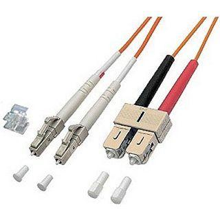 3.00m Good Connections LWL Duplex Anschlusskabel 62,5/125 µm OM2 LC Stecker auf SC Stecker Orange