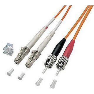3.00m Good Connections LWL Duplex Anschlusskabel 62,5/125 µm OM2 LC Stecker auf ST Stecker Orange