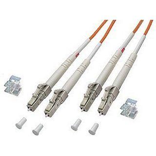 5.00m Good Connections LWL Duplex Anschlusskabel 62,5/125 µm OM2 LC Stecker auf LC Stecker Orange