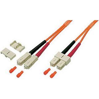 5.00m Good Connections LWL Duplex Anschlusskabel 62,5/125 µm OM2 SC Stecker auf SC Stecker Orange