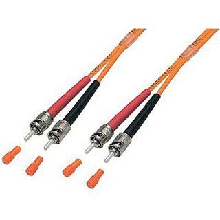 5.00m Good Connections LWL Duplex Anschlusskabel 62,5/125 µm OM2 ST Stecker auf ST Stecker Orange