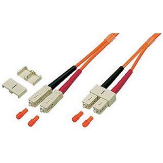30.00m Good Connections LWL Duplex Anschlusskabel 62,5/125 µm OM2 SC Stecker auf SC Stecker Orange