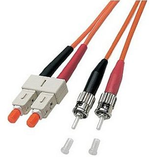 30.00m Good Connections LWL Duplex Anschlusskabel 62,5/125 µm OM2 SC Stecker auf ST Stecker Orange