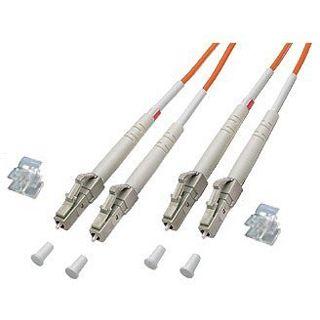 (€7,90*/1m) 1.00m Good Connections LWL Duplex Anschlusskabel 50/125 µm OM2 LC Stecker auf LC Stecker Orange