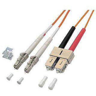 (€7,90*/1m) 1.00m Good Connections LWL Duplex Anschlusskabel 50/125 µm OM2 LC Stecker auf SC Stecker Orange