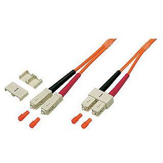 (€7,90*/1m) 1.00m Good Connections LWL Duplex Anschlusskabel 50/125 µm OM2 SC Stecker auf SC Stecker Orange