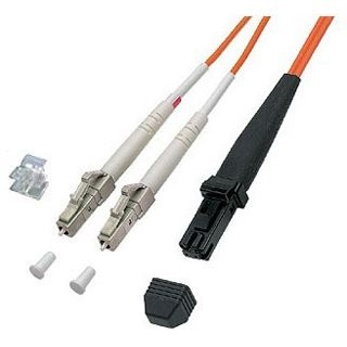 3.00m Good Connections LWL Duplex Anschlusskabel 50/125 µm OM2 MT-RJ Stecker auf LC Stecker Orange