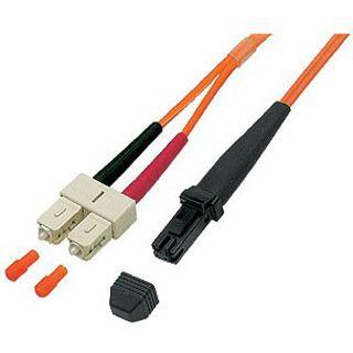 5.00m Good Connections LWL Duplex Anschlusskabel 50/125 µm OM2 MT-RJ Stecker auf SC Stecker Orange