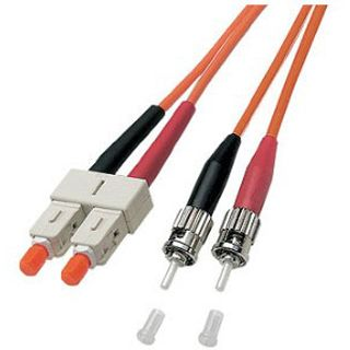 (€1,98*/1m) 5.00m Good Connections LWL Duplex Anschlusskabel 50/125 µm OM2 SC Stecker auf ST Stecker Orange