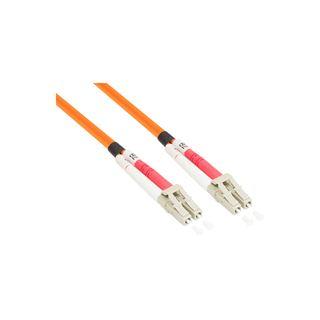 (€1,09*/1m) 10.00m Good Connections LWL Duplex Anschlusskabel 50/125 µm OM2 LC Stecker auf LC Stecker Orange