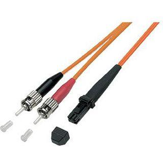 10.00m Good Connections LWL Duplex Anschlusskabel 50/125 µm OM2 MT-RJ Stecker auf ST Stecker Orange