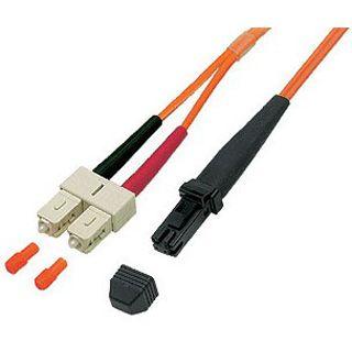 20.00m Good Connections LWL Duplex Anschlusskabel 50/125 µm OM2 MT-RJ Stecker auf SC Stecker Orange