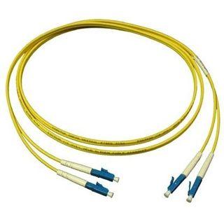 2.00m Good Connections LWL Single-Mode Anschlusskabel 9/125 µm OM2 LC Stecker auf LC Stecker Gelb