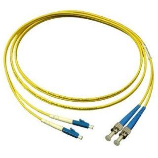 2.00m Good Connections LWL Single-Mode Anschlusskabel 9/125 µm OM2 LC Stecker auf ST Stecker Gelb