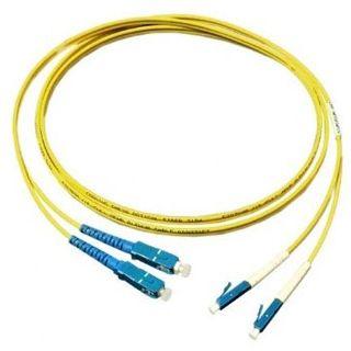5.00m Good Connections LWL Single-Mode Anschlusskabel 9/125 µm OM2 LC Stecker auf SC Stecker Gelb