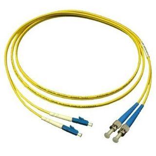 7.00m Good Connections LWL Single-Mode Anschlusskabel 9/125 µm OM2 LC Stecker auf ST Stecker Gelb