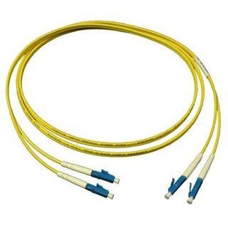 15.00m Good Connections LWL Single-Mode Anschlusskabel 9/125 µm OS1 LC Stecker auf LC Stecker Gelb