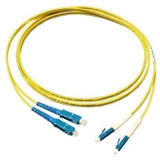 15.00m Good Connections LWL Single-Mode Anschlusskabel 9/125 µm OS1 LC Stecker auf SC Stecker Gelb