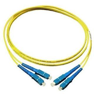 15.00m Good Connections LWL Single-Mode Anschlusskabel 9/125 µm OS1 SC Stecker auf SC Stecker Gelb