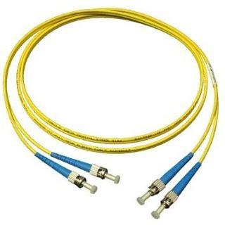 15.00m Good Connections LWL Single-Mode Anschlusskabel 9/125 µm OS1 ST Stecker auf ST Stecker Gelb