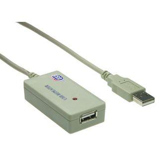 5.00m Good Connections USB2.0 Verlängerungskabel USB A Stecker auf USB A Buchse Grau mit Verstärker