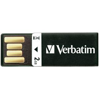 2 GB Verbatim Clip-it USB Drive schwarz USB 2.0