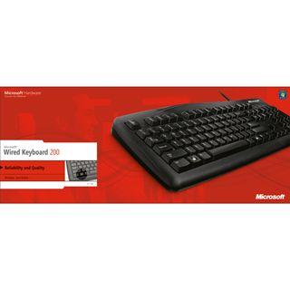 Microsoft 200 USB Deutsch schwarz (kabelgebunden)