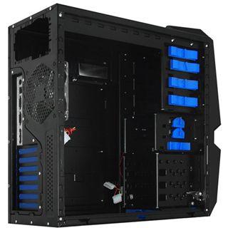 Raidmax Blackstorm Midi Tower ohne Netzteil schwarz/blau
