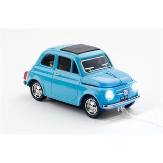 Sunny Trade Car-Mouse Fiat 500 Oldtimer USB blau (kabellos)