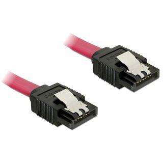 (€19,50*/1m) 0.20m Delock SATA 6Gb/s Anschlusskabel SATA Stecker auf SATA Stecker Rot