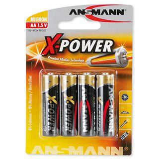 ANSMANN X-Power LR6 Alkaline AA Mignon Batterie 1.5 V 4er Pack