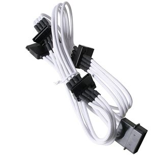 KAB BitFenix Molex zu 4x SATA Adapter 20 cm - sleeved white/black