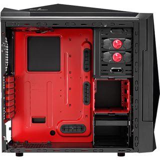 AeroCool Sixth Element Midi Tower ohne Netzteil schwarz/rot