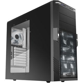 Sharkoon T9 Value White Edition mit Sichtfenster Midi Tower ohne Netzteil schwarz/weiss