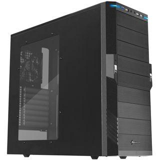 Sharkoon T9 Value Black Edition mit Sichtfenster Midi Tower ohne Netzteil schwarz
