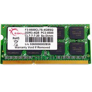 2GB G.Skill SQ Series DDR3-1066 SO-DIMM CL7 Single