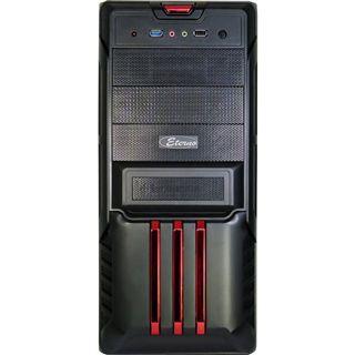 Inter-Tech Eterno V6 Sentinel Midi Tower 500 Watt schwarz/rot